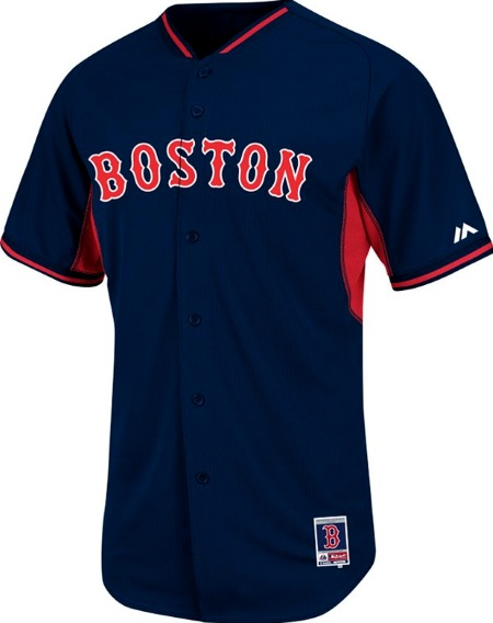 dc5315b0276 Boston Red Sox Authentic Cool Base BP Navy Baseball Jersey