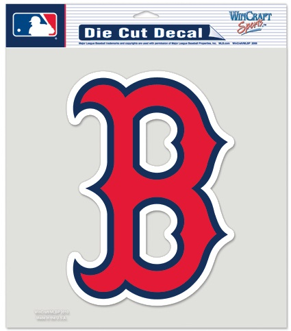 Boston Red Sox Quot B Quot Logo Team Color Mlb Die Cut Vinyl Decal