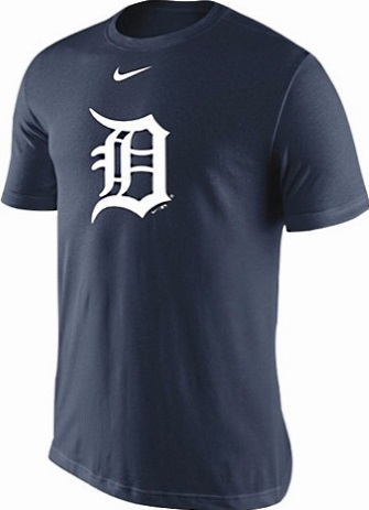 Detroit tigers navy blue nike mlb legend d logo dri fit t for Navy blue and white nike shirt