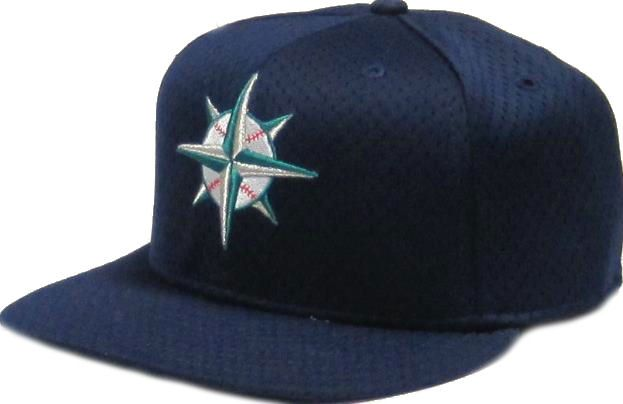 on sale e01ec 9c219 Seattle Mariners Logo 59FIFTY Mesh Batting Practice Fitted Hat