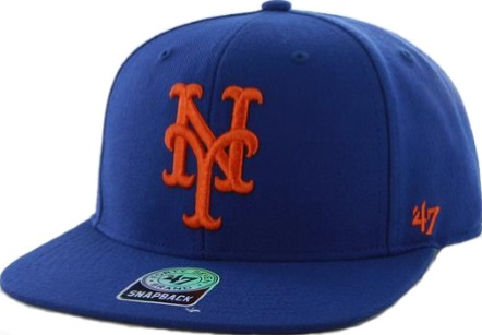 4129e40d8e5 New York Mets  47 Brand NY Home Blue Flat Bill Snapback Hat