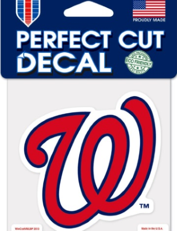Washington Nationals Perfect Cut W Logo Wincraft Decal 4 Quot