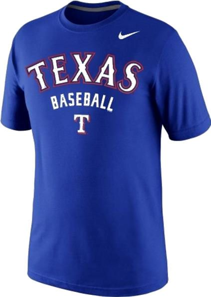 Texas rangers mlb merchandise memorabilia tees hats shop for Texas baseball t shirt