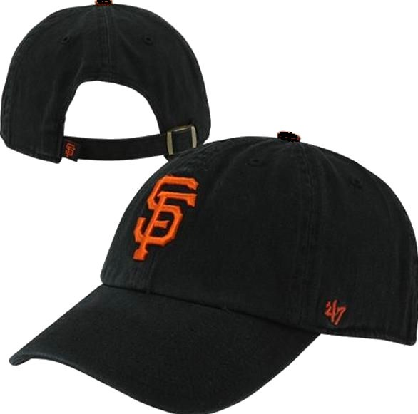 San Francisco Giants 47 Brand Black Clean Up Relaxed