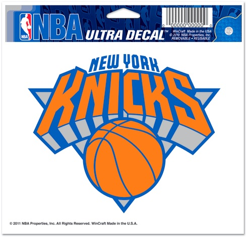 New York Knicks NBA Basketball Full Color 5 X 6 Ultra Decal