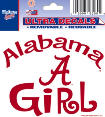 Alabama crimson tide a girl logo ua bama team ultra decal 3x4