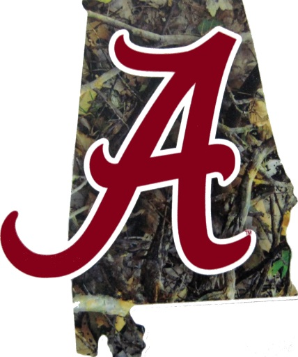 Alabama Crimson Tide A Logo Camo Precision Cut Bama Decal 5 5 Quot