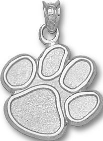 Clemson tigers jewelry watches charms pendants cu gifts clemson tigers 58 tiger paw logo sterling silver charm pendant mozeypictures Image collections