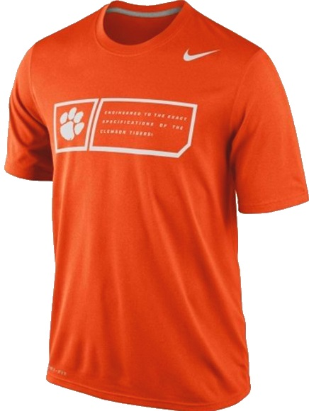 f154eaa8 Clemson Tigers Orange Nike Legend Training Day Dri-Fit T-Shirt
