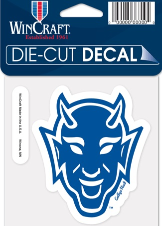 Duke blue devils die cut vault du devil mascot wincraft decal 4