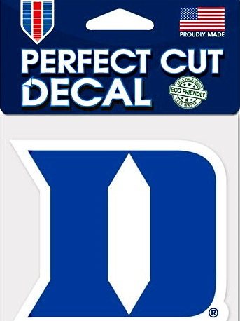 D Sports Logo duke blue devils perfect cut du iron d logo wincraft decal 4""