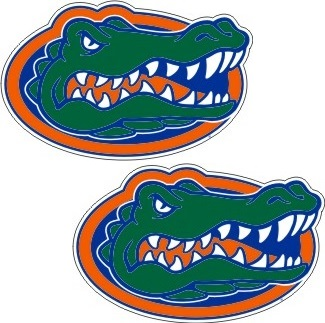 Florida Gators Die Cut 2 Pack Small Uf Gator Logo Vinyl Decals