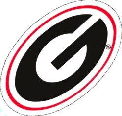 Georgia Bulldogs Die Cut Oval G Logo Uga Team Color Vinyl
