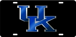 Kentucky Wildcats Uk Logo Black Mirror Laser License Plate Tag
