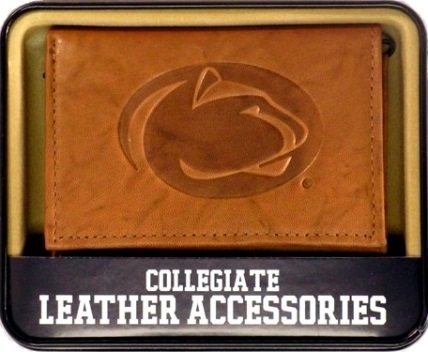Penn State Nittany Lions Embossed Logo Psu Leather Trifold