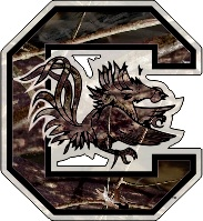 South Carolina Gamecocks Die Cut Camo Block C Vinyl Usc