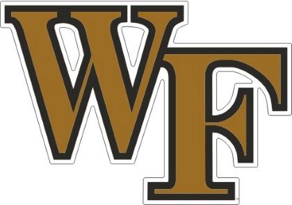 Wake Forest Demon Deacons Die Cut Old Gold Black Wf Logo Decal