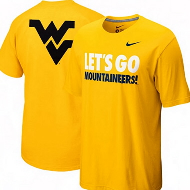West virginia mountaineers nike wvu gold my school local t for West virginia university football shirts