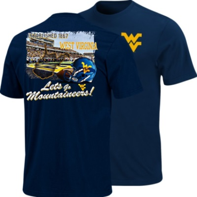 West virginia mountaineers blue section 101 wvu football t for West virginia university football shirts