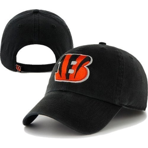 f6136e045a8b8f Cincinnati Bengals Black '47 Brand Clean Up Adjustable Slouch Hat Front and  Back
