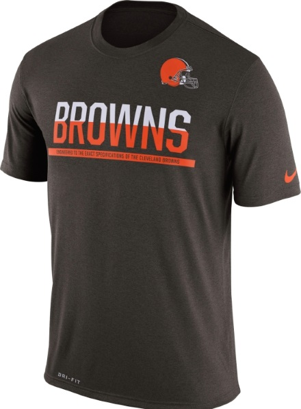 db3b2c82 alex tanney training worn signed brown and orange cleveland browns nike dri  fit shirt; cleveland browns nike brown team nfl equipment dri fit t shirt