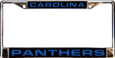 Carolina Panthers Mirror Rico Laser Chrome License Plate Frame
