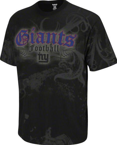 Wholesale Youth New York Giants NFL Football Black All Over Rebel SS T Shirt  supplier
