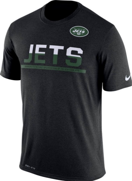 outlet store d5dc3 27ced New York Jets Black Nike Team NFL Equipment DRI-FIT T-Shirt