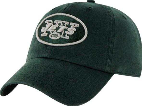 743182ef New York Jets '47 Brand Green Clean Up Adjustable Slouch Hat Front