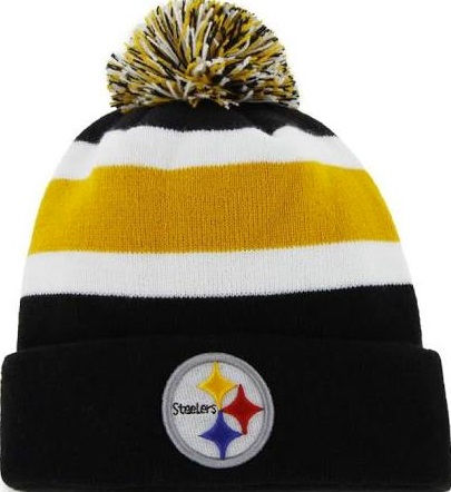 24ab67f2910498 Pittsburgh Steelers '47 Brand Breakaway Beanie Pom Knit Skull Hat