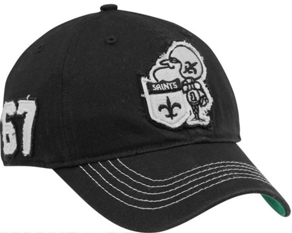 4dc9002813d73 New Orleans Saints  47 Brand NFL Black Badger Closer Flex Hat Front