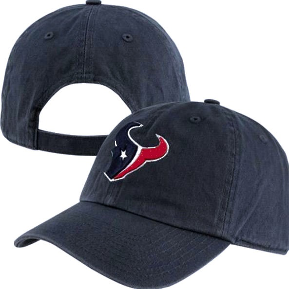 low priced 959fb 35c22 Houston Texans Bull Logo Blue  47 Brand Cleanup Adjustable Hat